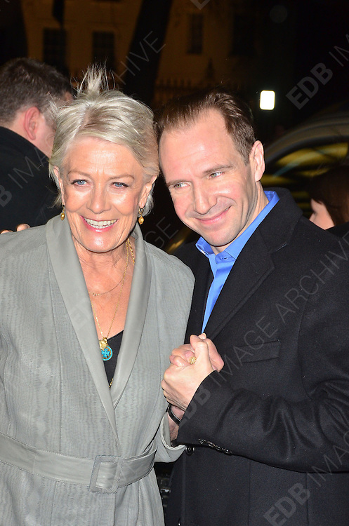 05.JANUARY.2012. LONDON<br /> <br /> VANESSA REDGRAVE AND RALPH FIENNES AT THE CORIOLANUS SPECIAL SCREENING AT THE CURZON MAYFAIR IN LONDON <br /> <br /> BYLINE: EDBIMAGEARCHIVE.COM<br /> <br /> *THIS IMAGE IS STRICTLY FOR UK NEWSPAPERS AND MAGAZINES ONLY*<br /> *FOR WORLD WIDE SALES AND WEB USE PLEASE CONTACT EDBIMAGEARCHIVE - 0208 954 5968*
