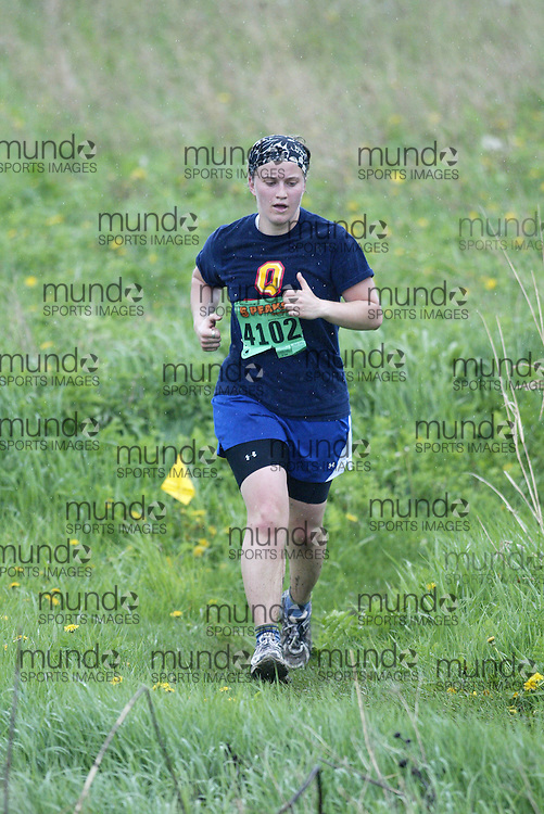 "(Kingston, Ontario---16/05/09) ""Kate Pasic finshed 8 in the women's 5-6 km Sport Race at the 2009 Salomon 5 Peaks Trail Running series Race held in Kingston, Ontario as part of the Eastern Ontario/Quebec division.""  Copyright photograph Sean Burges/Mundo Sport Images, 2009. www.mundosportimages.com / www.msievents.com."