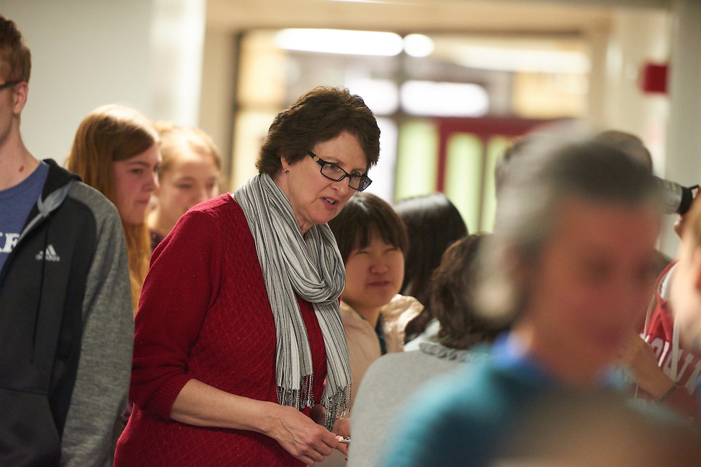Activity; Socializing; Buildings; Graff Main Hall; Location; Inside; People; Student Students; Faculty; Type of Photography; Candid; Spring; March; UWL UW-L UW-La Crosse University of Wisconsin-La Crosse