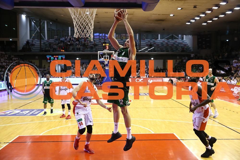 Cusin Marco<br /> GrissinBon Reggio Emilia vs Sidigas Avellino<br /> Lega Basket Serie A 2016/2017<br /> Play Off Quarti di Finale Gara 3<br /> REggio Emilia,17/05/2017<br /> Foto Ciamillo-Castoria/A. Gilardi