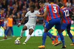 Michy Batshuayi of Chelsea under pressure - Mandatory by-line: Jason Brown/JMP - 14/10/2017 - FOOTBALL - Selhurst Park - London, England - Crystal Palace v Chelsea - Premier League