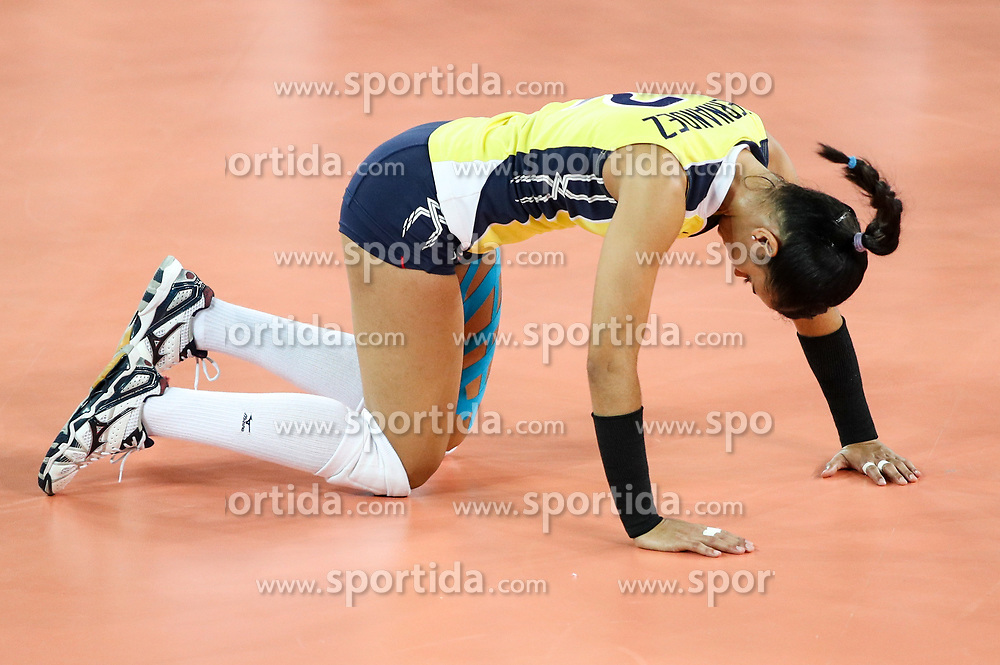 Winifer Maria Fernandez Perez of Dominican Republic during the volleyball match between National team of Slovenia and Dominican Republic in Preliminary Round of Womens U23 World Championship 2017, on September 4, 2017 in SRC Stozice, Ljubljana, Slovenia. Photo by Morgan Kristan / Sportida