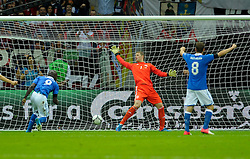 Mario Balotelli of Italy his team's second goal during the UEFA EURO 2012 semi final match between Germany and Italy at the National Stadium on June 28, 2012 in Warsaw, Poland.