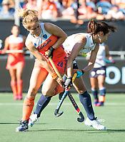 BREDA - Margot Zuidhof (Ned)tijdens de finale  Nederland-Japan (8-2) van de 4 Nations Trophy dames 2018 . COPYRIGHT KOEN SUYK