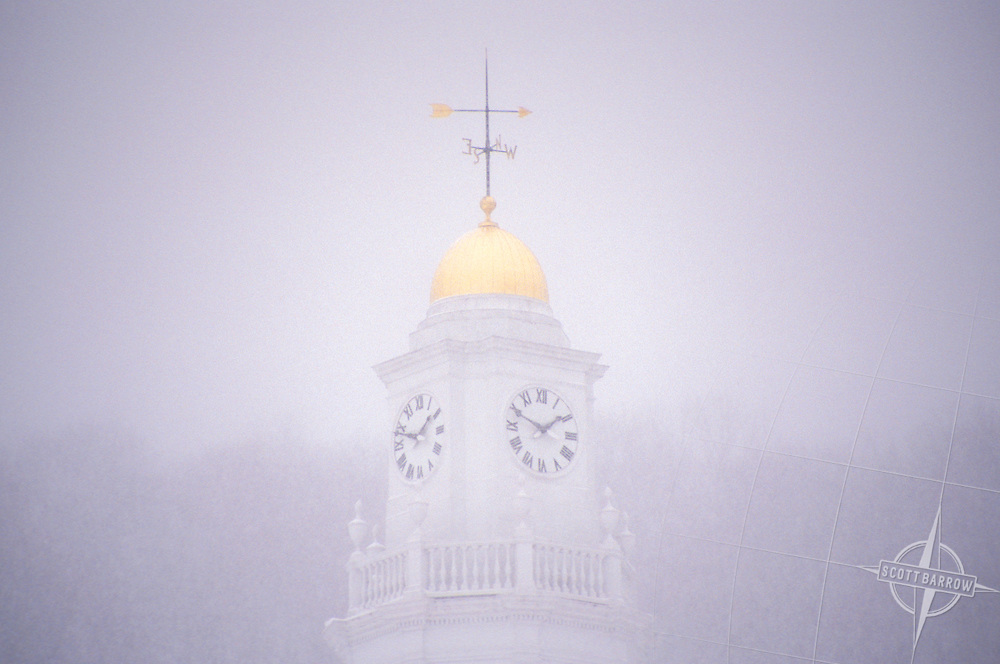 The clock tower of Berkshire Life Insurance in Pittsfield, MA.
