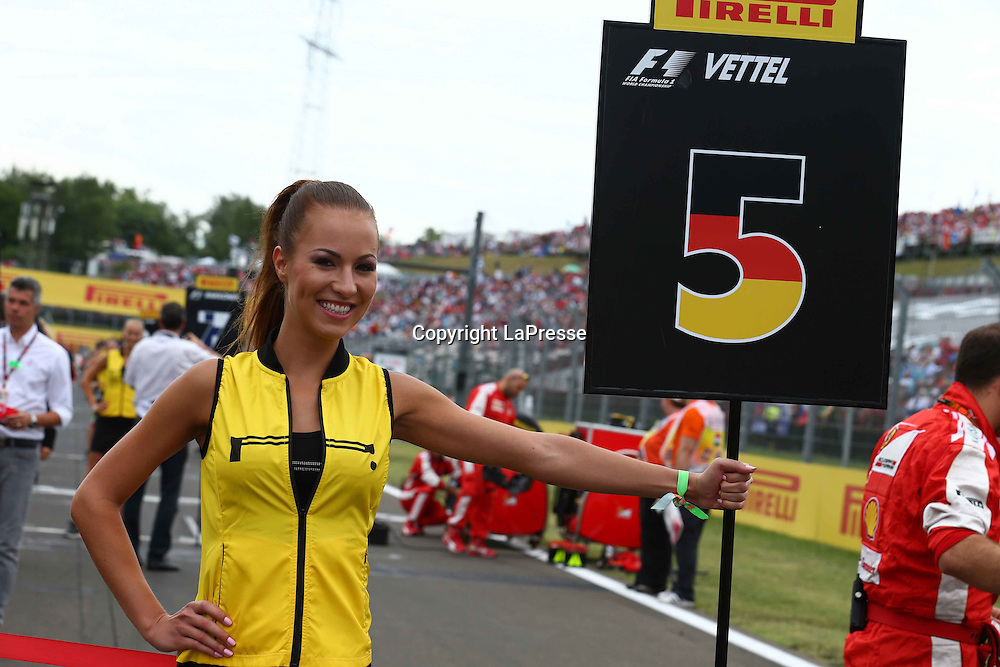 &copy; Photo4 / LaPresse<br /> 26/07/2015 Budapest, Hungary<br /> Sport <br /> Grand Prix Formula One Hungary 2015<br /> In the pic: Grid Girl