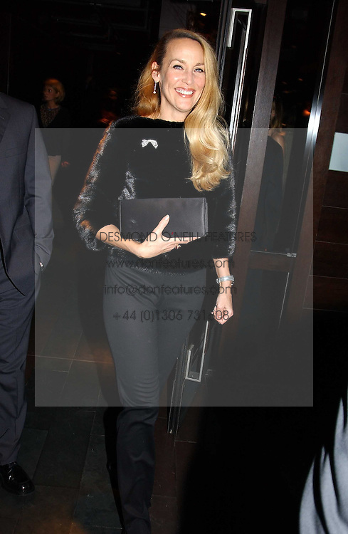 Model JERRY HALL at an aftershow party following the opening of the play Whose Life is it Anyway held at Mint Leaf, Suffolk Place, London SW1 on 26th January 2005.<br />