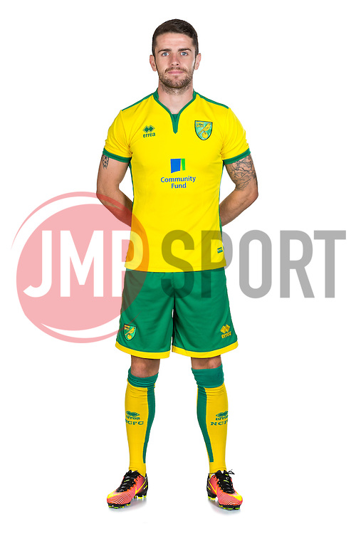 Robbie Brady of Norwich City poses during a portrait session ahead of the 2016/17 Sky Bet Championship - Mandatory by-line: Rogan Thomson/JMP - 27/07/2016 - FOOTBALL - Norwich, England - Colney Training Centre - Norwich City Pre-Season Portraits.