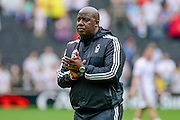 Nottingham Forest manager Paul Williams applauds the fans during the Sky Bet Championship match between Milton Keynes Dons and Nottingham Forest at stadium:mk, Milton Keynes, England on 7 May 2016. Photo by Dennis Goodwin.