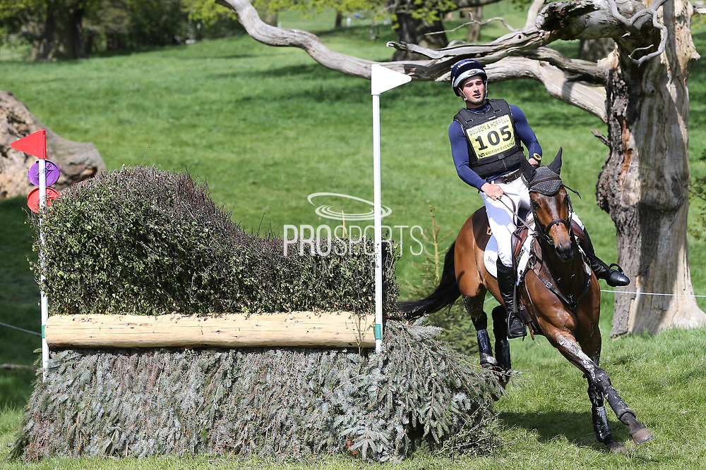 James Avery (NZL) on Zazu refusal at the jump during the International Horse Trials at Chatsworth, Bakewell, United Kingdom on 13 May 2018. Picture by George Franks.