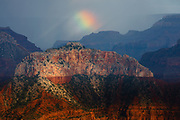 A partial rainbow as seen from Point Sublime on the North Rim of the Grand Canyon.
