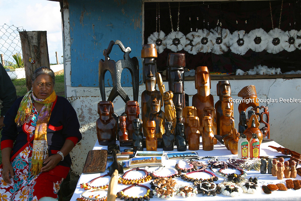 Statues and Necklaces, Easter Island (Rapa Nui), Chile<br />