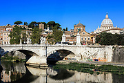 Ponte Vittorio Emanuele II, Rome, Italy.