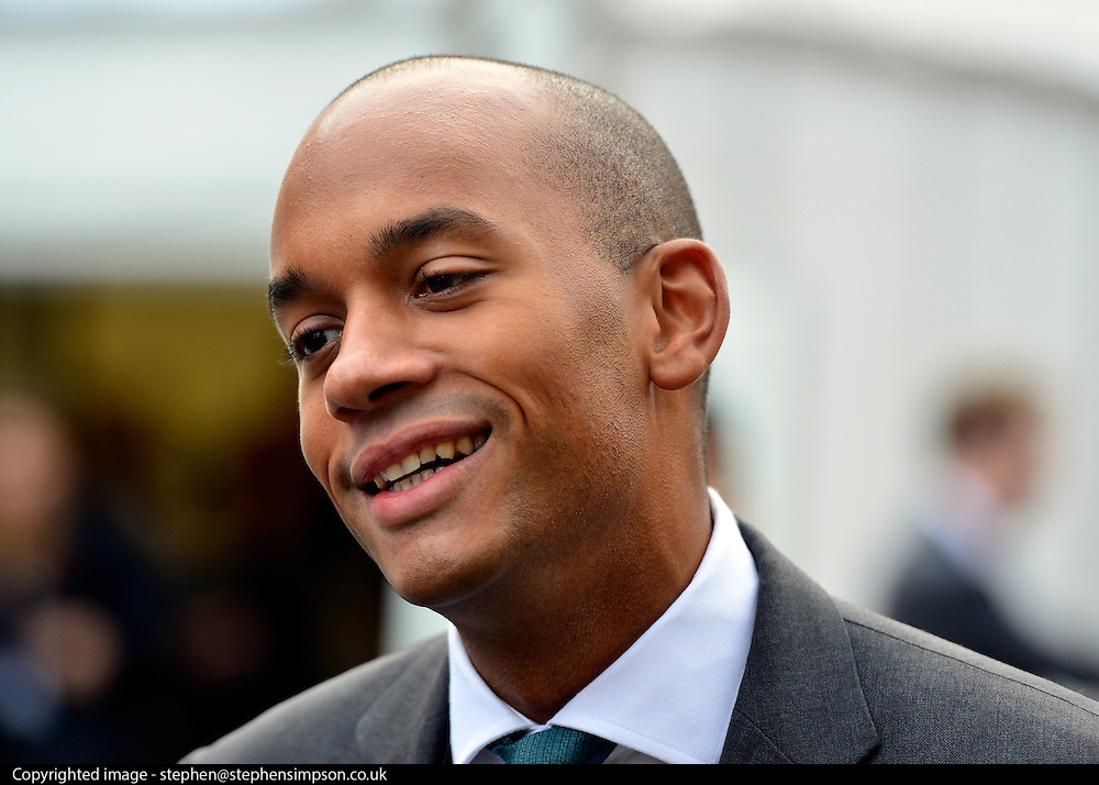 © Licensed to London News Pictures. 01/10/2012. Manchester, UK Chuka Umunna  Shadow Business Secretary. Labour Party Conference Day 2 at Manchester Central. Photo credit : Stephen Simpson/LNP