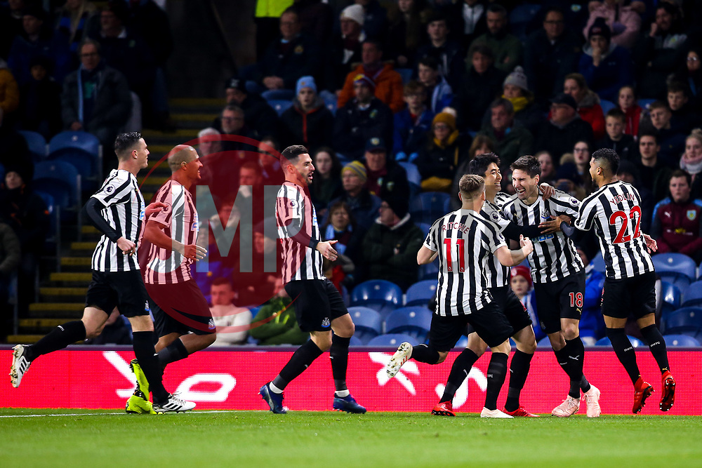 Federico Fernandez of Newcastle United celebrates with teammates after scoring a goal to make it 1-0 - Mandatory by-line: Robbie Stephenson/JMP - 26/11/2018 - FOOTBALL - Turf Moor - Burnley, England - Burnley v Newcastle United - Premier League