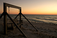 Bench in Noneymoon Island, Florida.