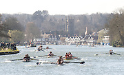 Henley, GREAT BRITAIN, General view looking down the Henley course towards the town, from Temple Island, National Junior Sculling Head, Henley on Thames,   03/03/2008  2008. [Mandatory Credit, Peter Spurrier/Intersport-images] Rowing Courses, Henley Reach, Henley, ENGLAND