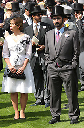 File Picture of  Mohammed bin Rashid Al Maktoum of Dubai in the Parade ring at Day 2 of Royal Ascot Day, Photo Taken Wednesday June 20, 2012. Racing has been rocked by drugs scandal as Eleven horses test positive for steroids at stable owned by Dubai ruler Sheikh Mohammed April 23, 2013, Photo by: Stephen Lock / i-Images