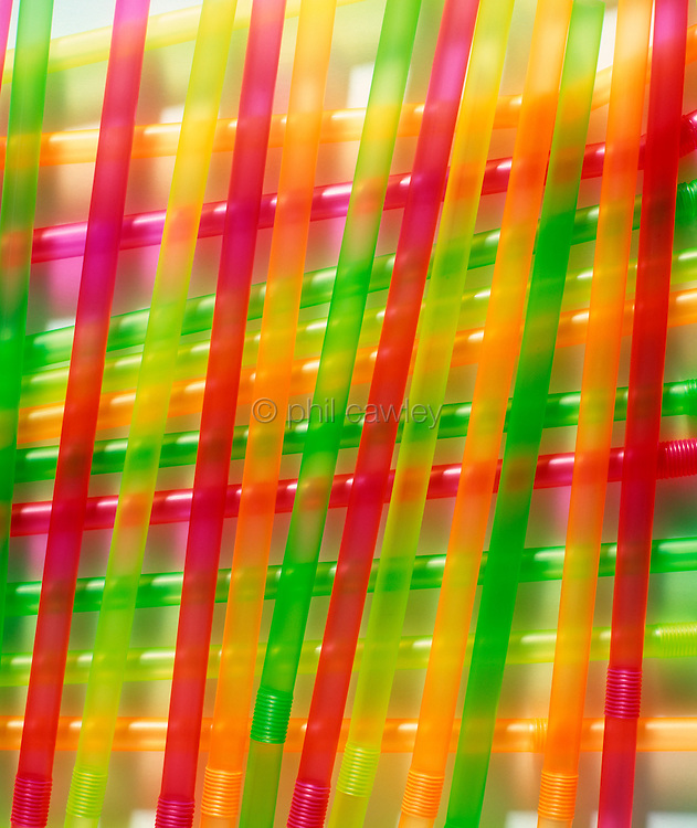 Colorful drinking straws