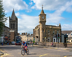 View of Stockbridge district of Edinburgh, Scotland UK