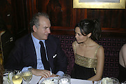 Charles Finch and  Thandie Newton,  Charles Finch and Chanel 7th Anniversary Pre-Bafta party to celebratew A Great Year of Film and Fashiont at Annabel's. Berkeley Sq. London W1. 10 February 2007. -DO NOT ARCHIVE-© Copyright Photograph by Dafydd Jones. 248 Clapham Rd. London SW9 0PZ. Tel 0207 820 0771. www.dafjones.com.