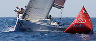 Platoon Powered by Team Germany approaches the windward mark during the practice race of the AUDI Medcup in Cartagena