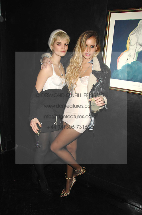 Left to right,  PIXIE GELDOF and ALICE DELLAL at Andy & Patti Wong's Chinese new Year party held at County Hall and Dali Universe, London on 26th January 2008.<br />