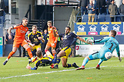 GOAL 3-1 Luton Town midfielder George Moncur (20) scores during the EFL Sky Bet League 1 match between Luton Town and Oxford United at Kenilworth Road, Luton, England on 4 May 2019.