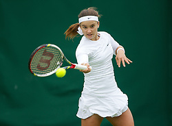LONDON, ENGLAND - Monday, June 24, 2013: Lauren Davis (USA) during the Ladies' Singles 1st Round match on day one of the Wimbledon Lawn Tennis Championships at the All England Lawn Tennis and Croquet Club. (Pic by David Rawcliffe/Propaganda)