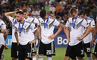 FUSSBALL UEFA U21-EUROPAMEISTERSCHAFT FINALE 2019  in Italien  Spanien - Deutschland   30.06.2019 Enttaeuschung Deutschland; Marco Richter, Robin Koch und Lukas Klostermann (v.li.)