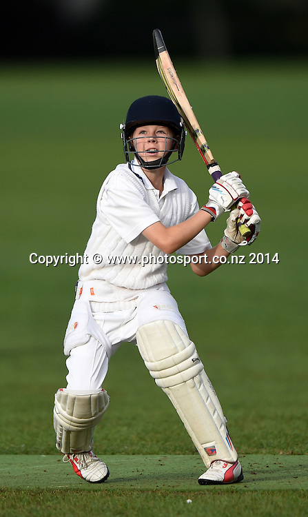 Junior Cricket. University AUCC Year 7A Thunder v Papatoetoe, Saturday 28 March 2015. Photo: Andrew Cornaga/www.photosport.co.nz