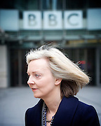 Andrew Marr Show departures<br /> BBC, Broadcasting House, London, Great Britain <br /> 19th February 2017 <br /> <br /> <br /> <br /> Elizabeth Truss<br /> Secretary of State for Justice and The Lord Chancellor <br /> <br /> Photograph by Elliott Franks <br /> Image licensed to Elliott Franks Photography Services