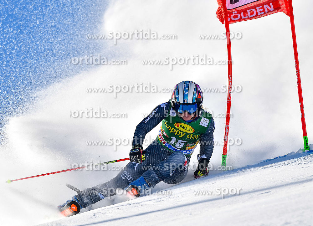 22.10.2016, Rettenbachferner, Soelden, AUT, FIS Weltcup Ski Alpin, Soelden, Riesenslalom, Damen, 1. Durchgang, im Bild Manuela Moelgg (ITA) // Manuela Moelgg of Italy in action during 1st run of ladies Giant Slalom of the FIS Ski Alpine Worldcup opening at the Rettenbachferner in Soelden, Austria on 2016/10/22. EXPA Pictures &copy; 2016, PhotoCredit: EXPA/ Nisse Schmid<br /> <br /> *****ATTENTION - OUT of SWE*****