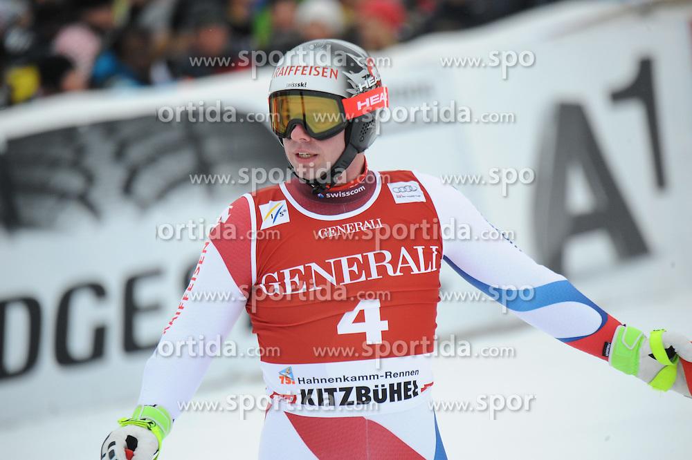 23.01.2015, Streif, Kitzbuehel, AUT, FIS Ski Weltcup, Supercombi Super G, Herren, im Bild Beat Feuz (SUI) // Beat Feuz of Switzerland reacts after his run of the men's Super Combined Super-G of Kitzbuehel FIS Ski Alpine World Cup at the Streif Course in Kitzbuehel, Austria on 2015/01/23. EXPA Pictures © 2015, PhotoCredit: EXPA/ Erich Spiess