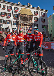 26.09.2018, Innsbruck, AUT, UCI Straßenrad WM 2018, Herren, Training, im Bild v.l. Patrick Konrad (AUT) Lukas Pöstlberger (AUT), Gregor Mühlberger (AUT), Felix Grossschartner (AUT) // f.l. Patrick Konrad of Austria Lukas Pöstlberger of Austria Gregor Mühlberger of Austria Felix Grossschartner of Austria during the men's practice trial of the UCI Road World Championships 2018. Innsbruck, Austria on 2018/09/26. EXPA Pictures © 2018, PhotoCredit: EXPA/ Reinhard Eisenbauer