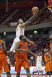 16 December 2012:  Jackie Carmichael sails through the lane for a lay up during an NCAA men's basketball game between the Morgan State Bears and the Illinois State Redbirds (Missouri Valley Conference) in Redbird Arena, Normal IL