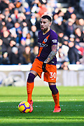 Nicolas Otamendi of Manchester City (30) in action during the Premier League match between Huddersfield Town and Manchester City at the John Smiths Stadium, Huddersfield, England on 20 January 2019.