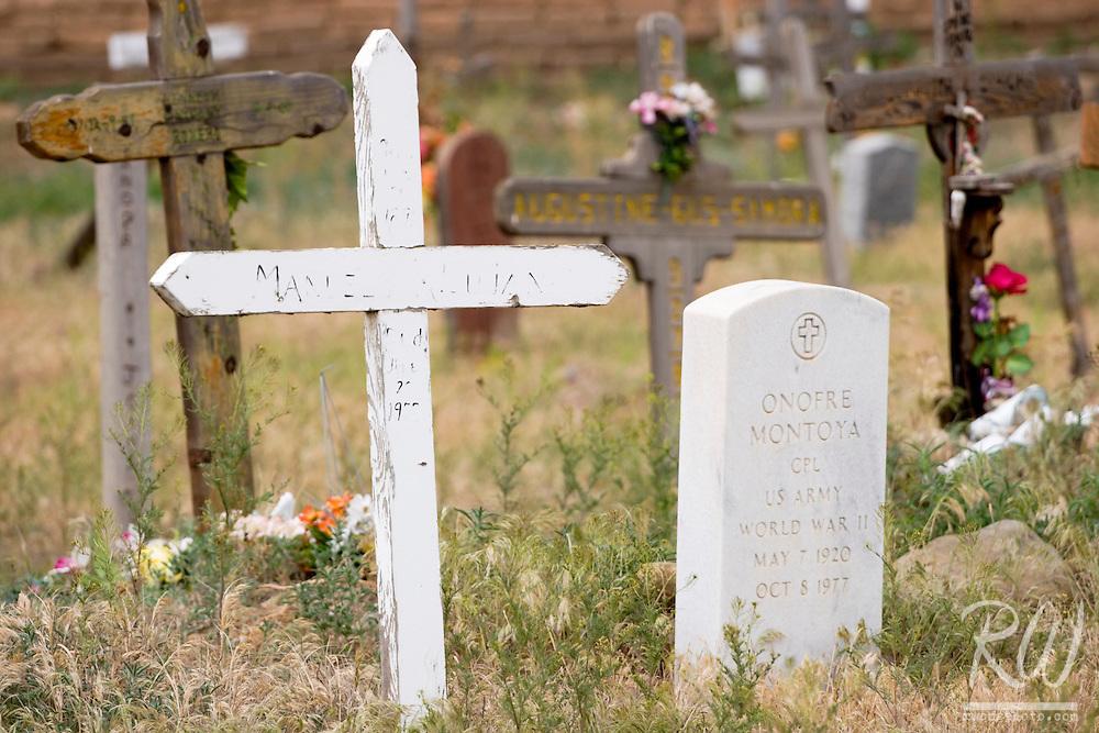 Cemetery Grave Markers, Taos Pueblo, New Mexico