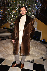 Mark-Francis Vandelli at reception to celebrate the launch of the Claridge's Christmas Tree 2017 at Claridge's Hotel, Brook Street, London England. 28 November 2017.<br /> Photo by Dominic O'Neill/SilverHub 0203 174 1069 sales@silverhubmedia.com