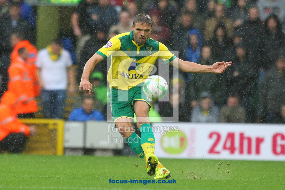 Jos Hooiveld of Norwich in action during the Sky Bet Championship match at Carrow Road, Norwich<br /> Picture by Paul Chesterton/Focus Images Ltd +44 7904 640267<br /> 04/10/2014