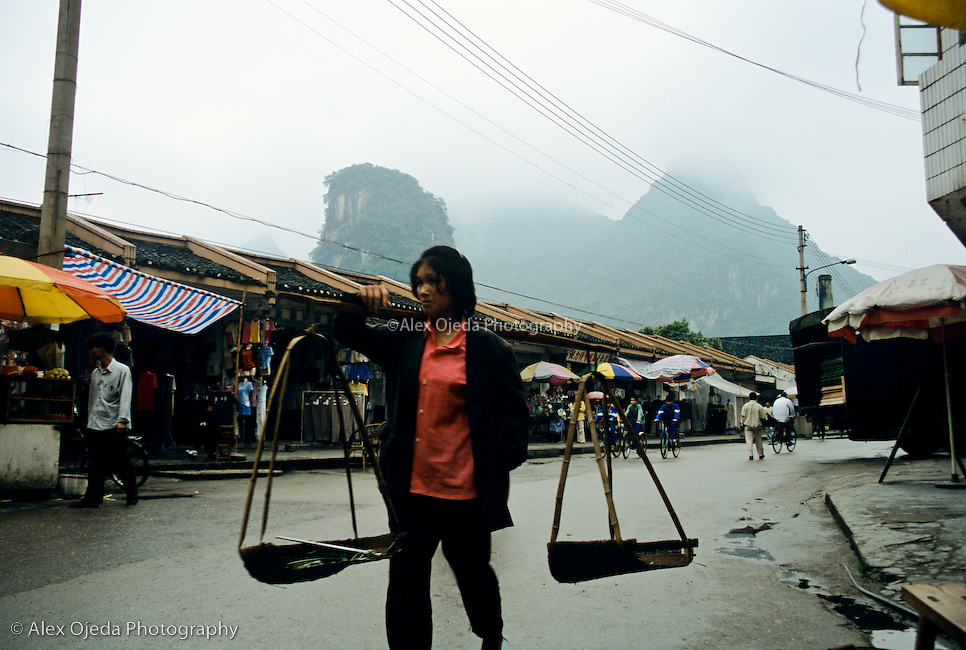 Street scene, China
