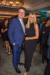 Ewan Venters and Tess Daly at the launch of the Fortnum & Mason Christmas & Other Winter Feasts Cook Book by Tom Parker Bowles held at Fortnum & Mason, 181 Piccadilly, London, England. 17 October 2018.
