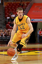 05 November 2016:   Evan McGaughey during an NCAA  mens basketball game where the Quincy Hawks lost to the Illinois State Redbirds in an exhibition game at Redbird Arena, Normal IL