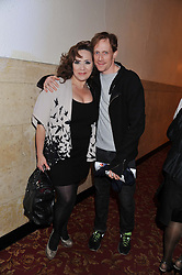 HARRIET THORPE and ballet dancer EDWARD WATSON at West End Eurovision 2013 held at the  Dominion Theatre, London on 23rd May 2013.