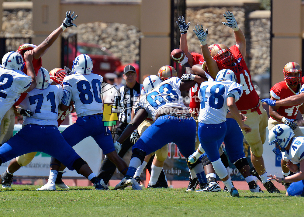 NCAA FCS: VMI fends off Glenville State with goal-line stand, 34-27