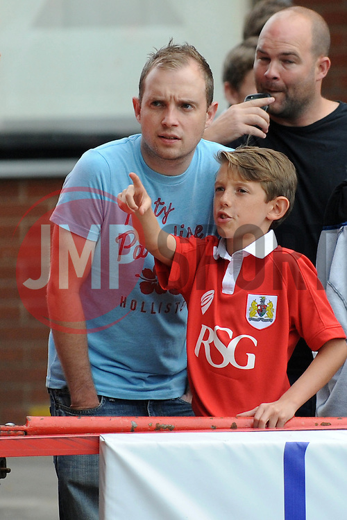 Bristol City fans - Photo mandatory by-line: Dougie Allward/JMP - Mobile: 07966 386802 - 27/09/2014 - SPORT - Football - Bristol - Ashton Gate - Bristol City v MK Dons - Sky Bet League One