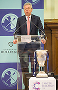 London. Great Britain.  <br /> The Boat race Company Chairmen Robert GILLESPIE, addresses the press at the  2016 Varsity Boat Race. Crew announcement and  crew weigh-in. Central Hall. Westminster Central London,  Tuesday  01/03/2016  <br /> <br /> [Mandatory Credit, Peter Spurrier/ Intersport Images].