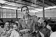 Marina Silva (Rio Branco-Brazil 1958). Inauguration of a rubber farm in Xapurì, in july 1997, then member of the brazilian senate for the state of Acre.She was member of the Partido dos Trabalhadores (PT), and main collaborator of Chico Mendes, the landless leader killed december 22nd, 1988, in Xapuri. In 1994, she was elected to the Senate at the age of 36.In 2003, she was Lula's minister of environment.In 2009, she left the PT for the Brazil Green party, and decided to run for presidency in 2010. july 1997, then member of the brazilian senate for the state of Acre.She was member of the Partido dos Trabalhadores (PT), and main collaborator of Chico Mendes, the landless leader killed december 22nd, 1988, in Xapuri. In 1994, she was elected to the Senate at the age of 36.In 2003, she was Lula's minister of environment.In 2009, she left the PT for the Brazil Green party, and decided to run for presidency in 2010. july 1997, then member of the brazilian senate for the state of Acre.She was member of the Partido dos Trabalhadores (PT), and main collaborator of Chico Mendes, the landless leader killed december 22nd, 1988, in Xapuri. In 1994, she was elected to the Senate at the age of 36.In 2003, she was Lula's minister of environment.In 2009, she left the PT for the Brazil Green party, and decided to run for presidency in 2010.