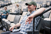 "Director John Langs cracks a smile during rehearsal for William Shakespeare's ""Twelfth Night"" at American Players Theatre in Spring Green, WI on Thursday, May 16, 2019."