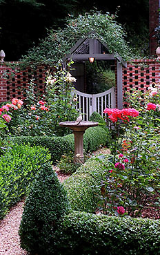000613 ATLANTA,GA: Wendy Murray's pergola is a pathwayfrom her rose garden to her backyard. For H&G/Flanders story. (WILLIAM BERRY/staff) 6-12-00